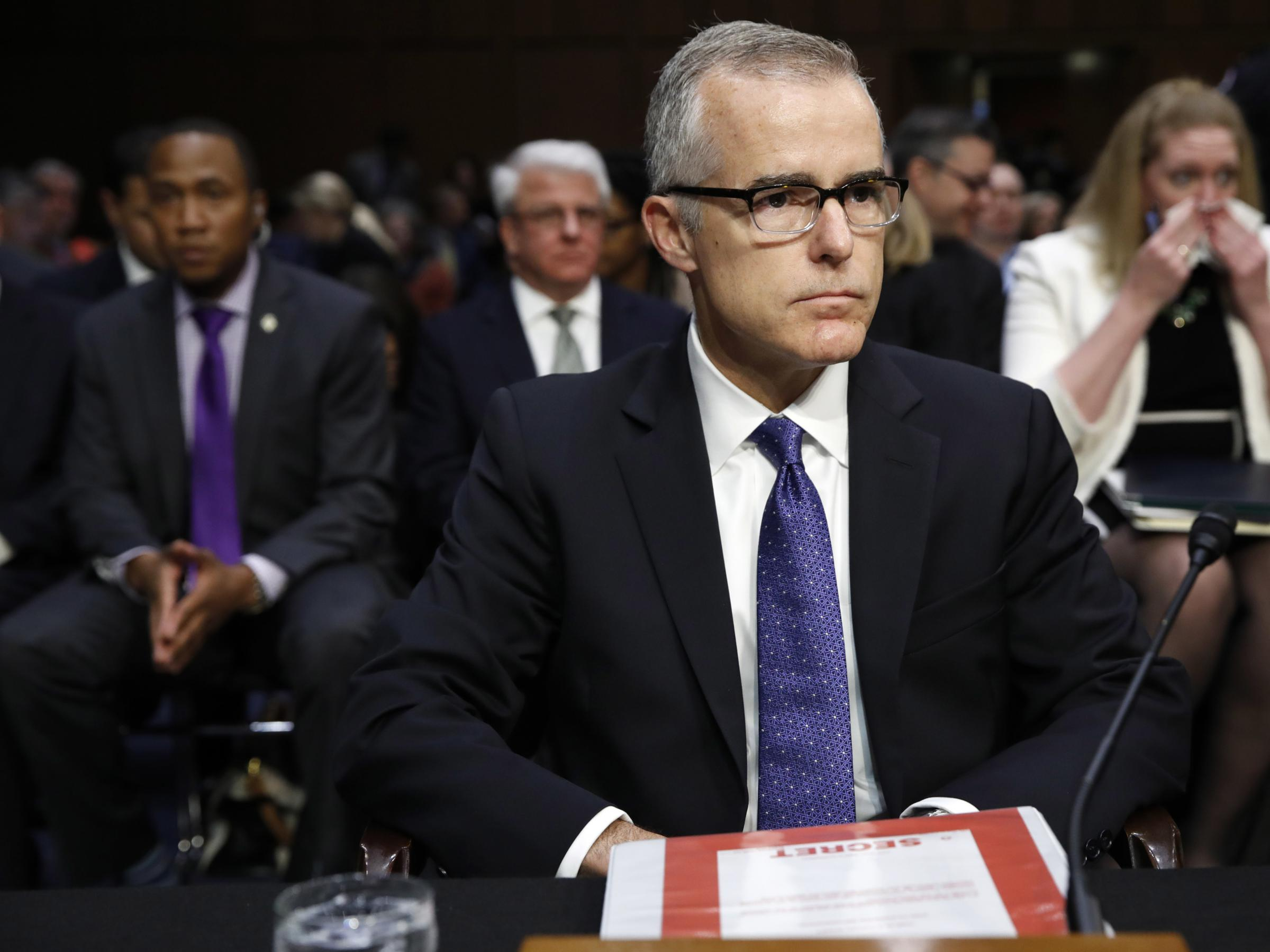 US watchdog sends criminal referral on ex-FBI deputy director Andrew McCabe
