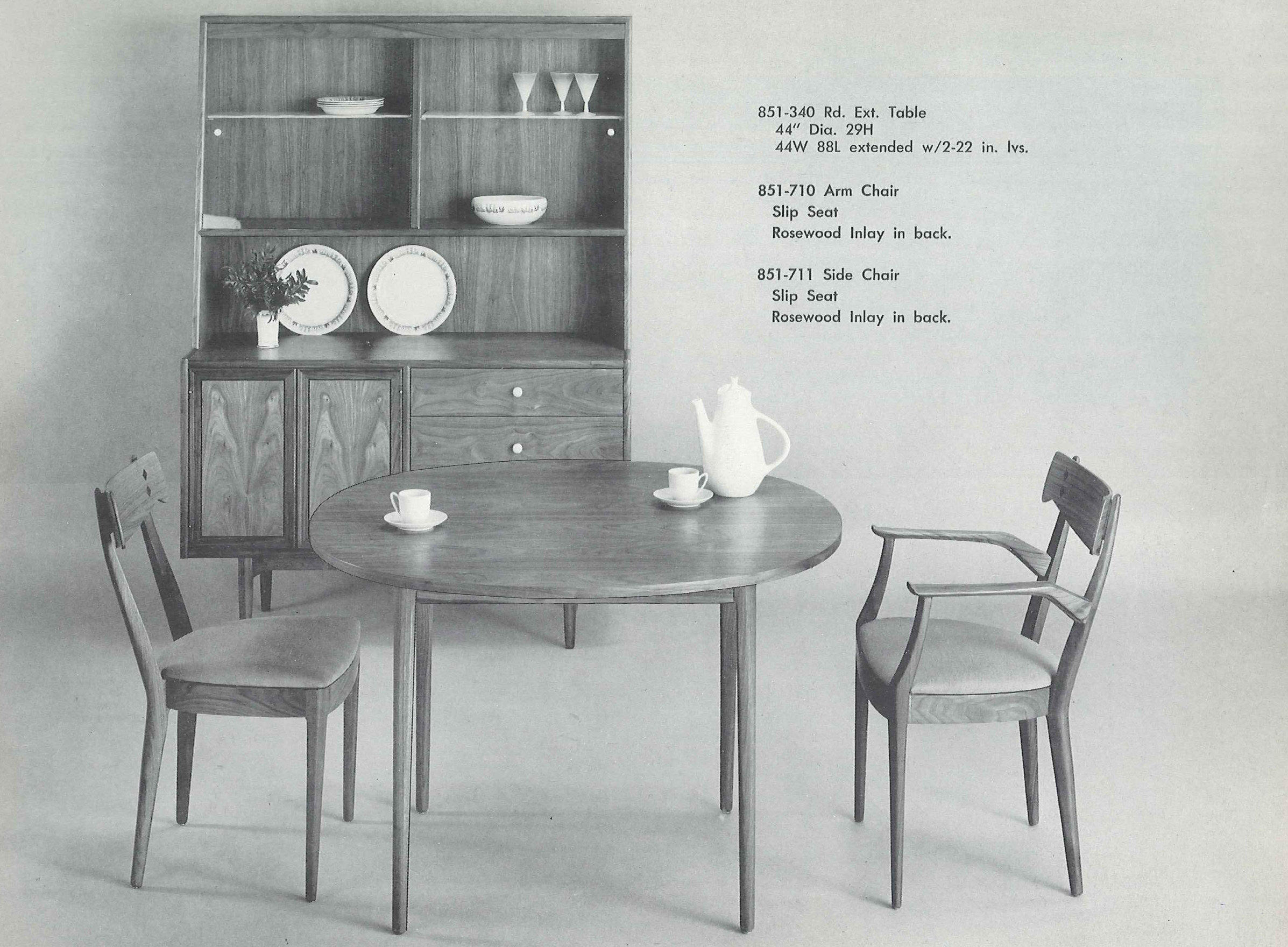 NPRs Andrea Hsu Paid 75 For Her Midcentury Modern Table And Chairs Shown Here In A 1963 Drexel Declaration Catalog She Quickly Realized It Was Steal