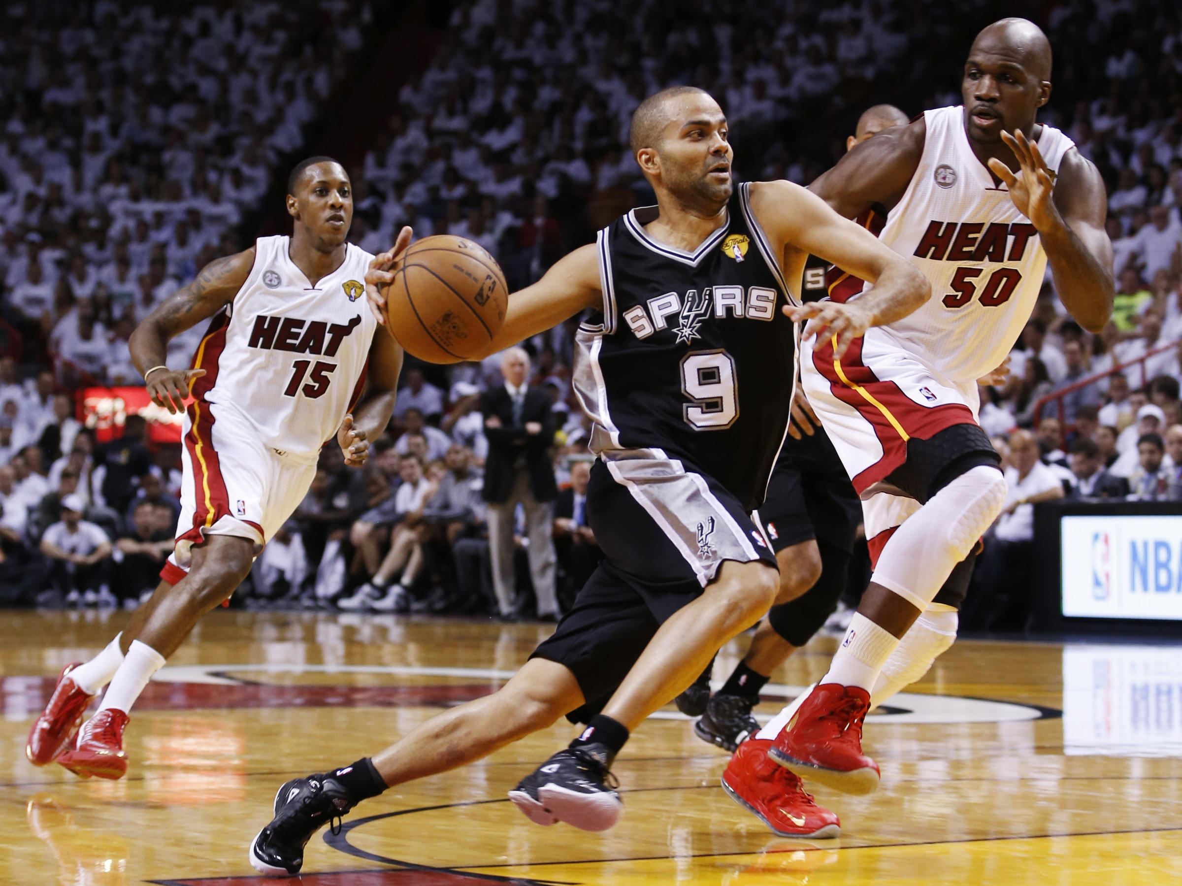 3bfc26fe411a Tony Parker of the San Antonio Spurs during Thursday night s first game of  the NBA finals in Miami. The Spurs beat the Miami Heat