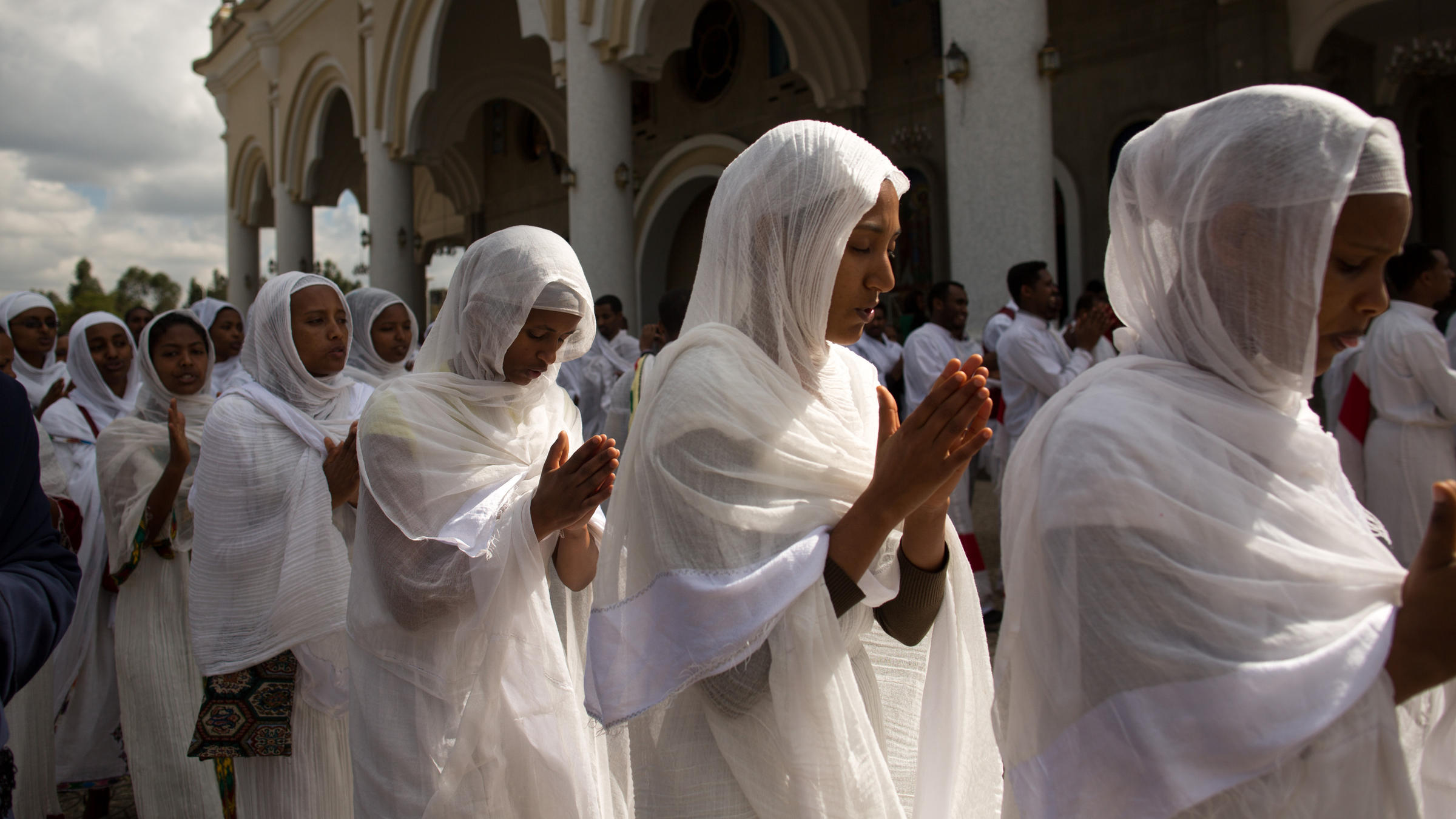 cfb4ad4fc80 Participants sing during a wedding ceremony at Bole Medhane Alem (Savior of  the World) Cathedral in Addis Ababa