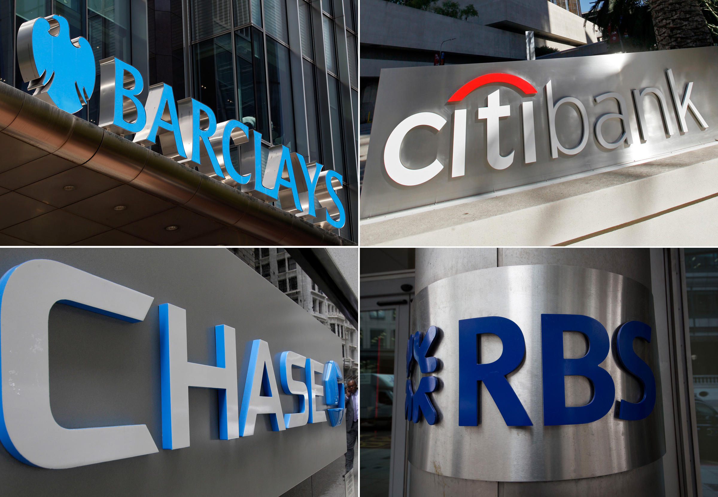 Clockwise From Top Left Barclays Citicorp Jpmorgan Chase And The Royal Bank Of