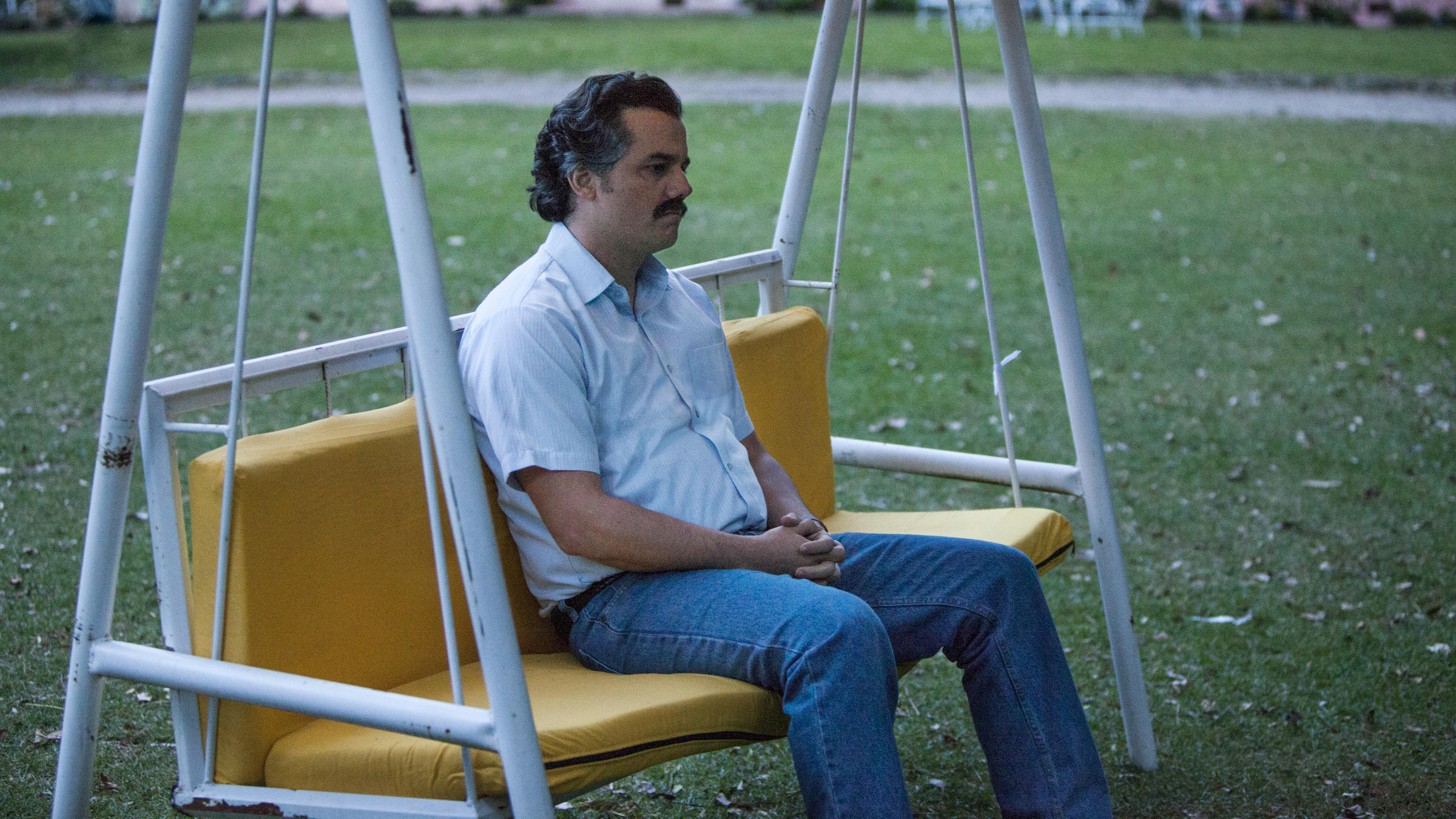 Image result for pablo escobar narcos sitting