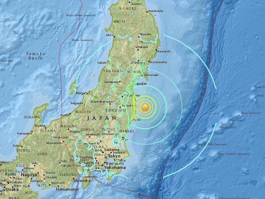 Tsunami warning lifted after earthquake off japans coast kalw this map by the us geological survey shows the epicenter of the quake which hit japan early tuesday local time gumiabroncs Image collections