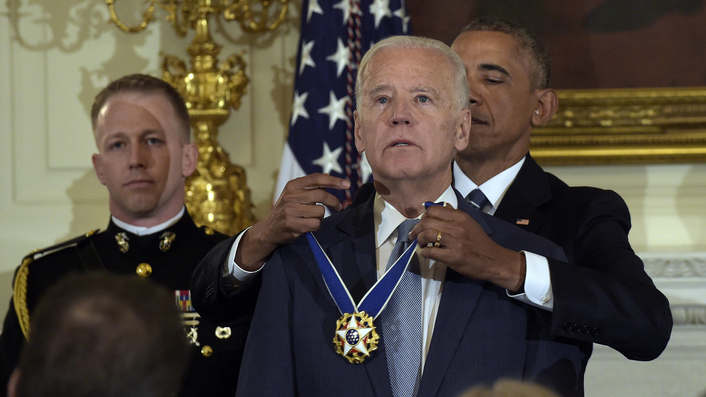 President Obama Presents A Teary Eyed Vice President Biden With The Presidential Medal Of Freedom At The White House On Thursday