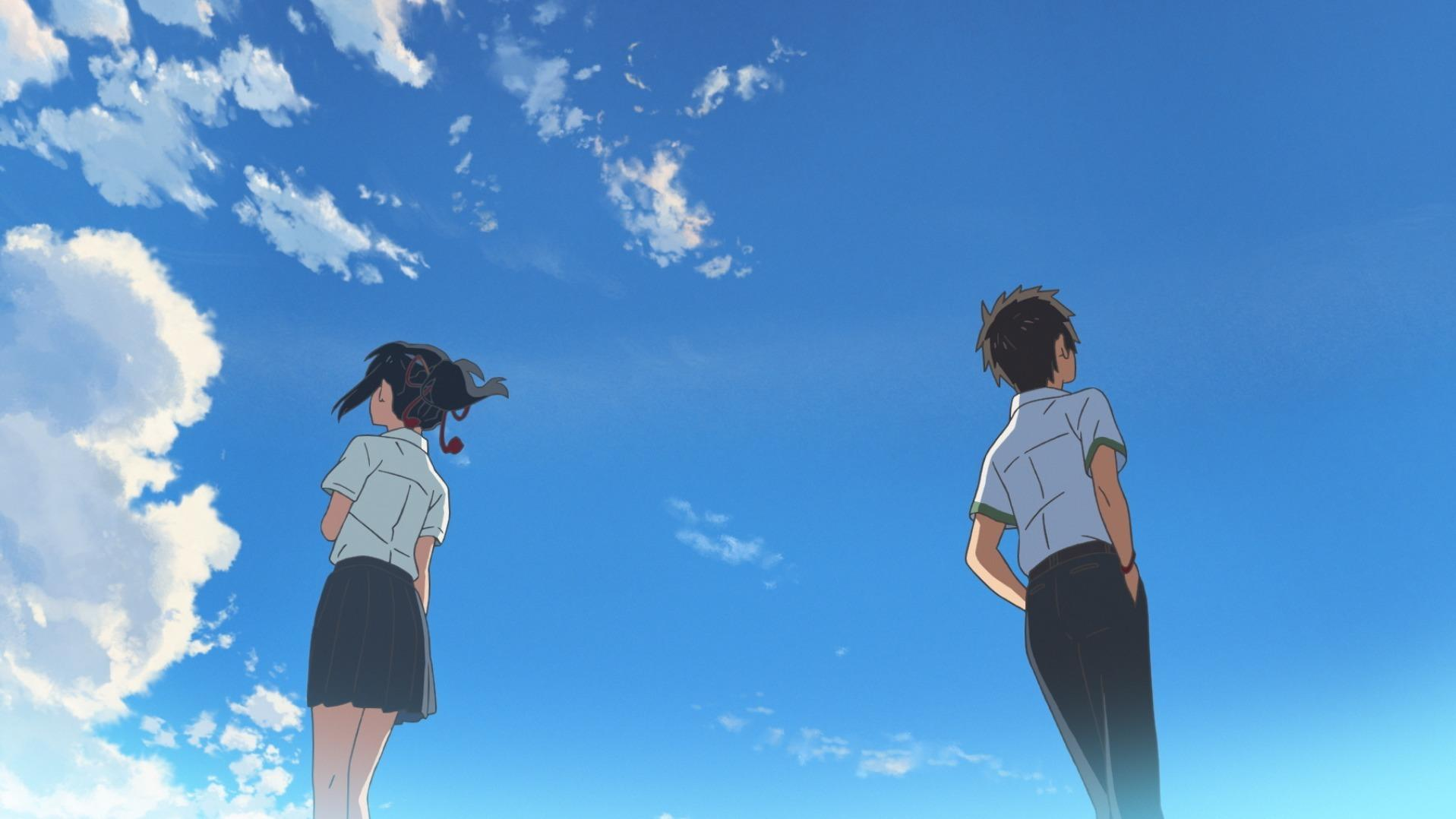 a body-switching teen romance anime disaster flick with 'your name