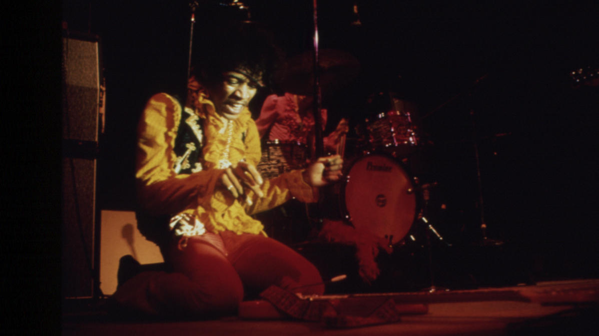 Jimi Hendrix Prepares To Sacrifice His Guitar At Monterey Pop In An Iconic Rock N Roll Moment