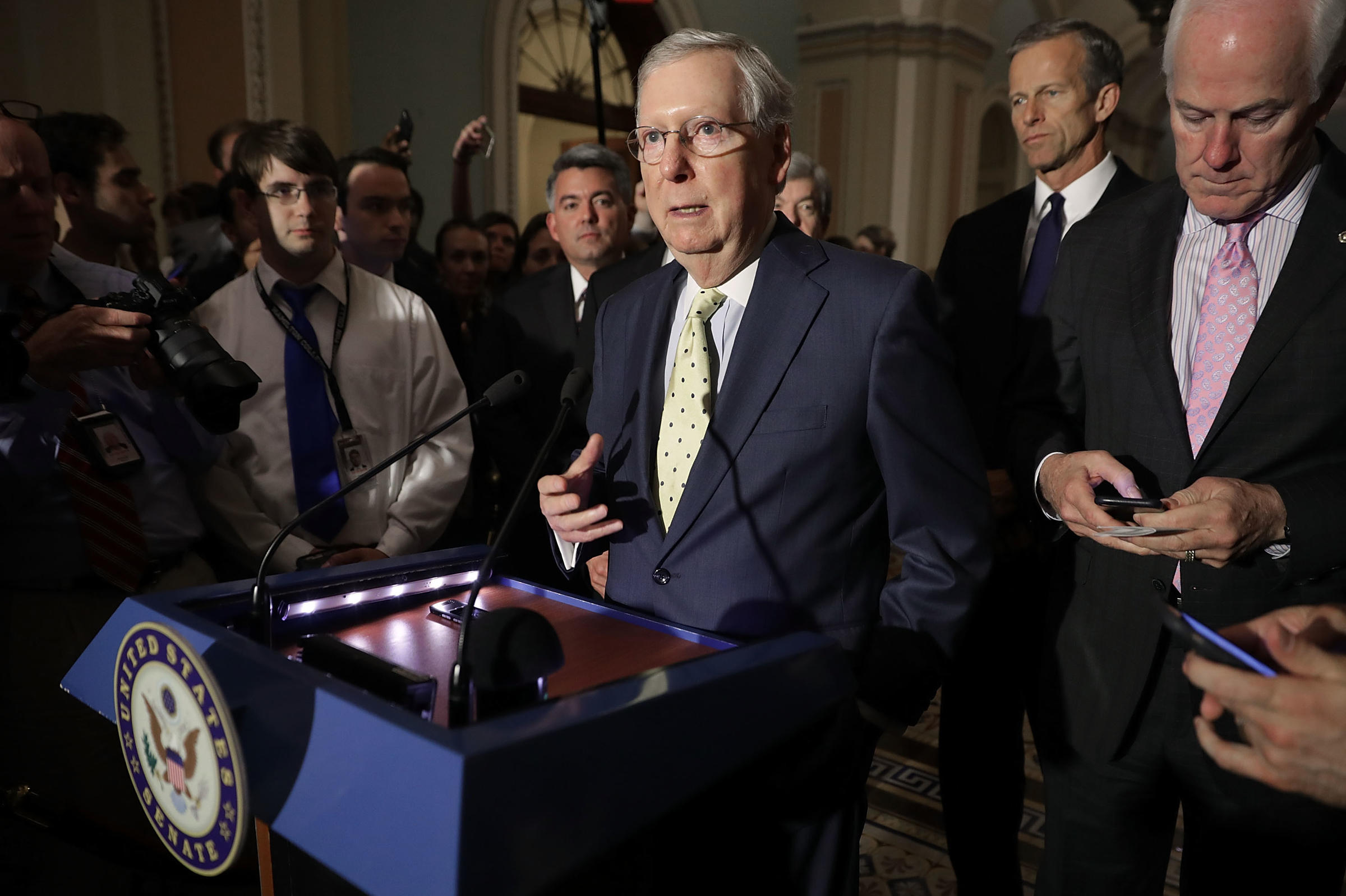 Y Seen Speaking To Reporters On Tuesday Is Set To Release A Draft Of The Senates Version Of The Republican Health Care Bill On Thursday