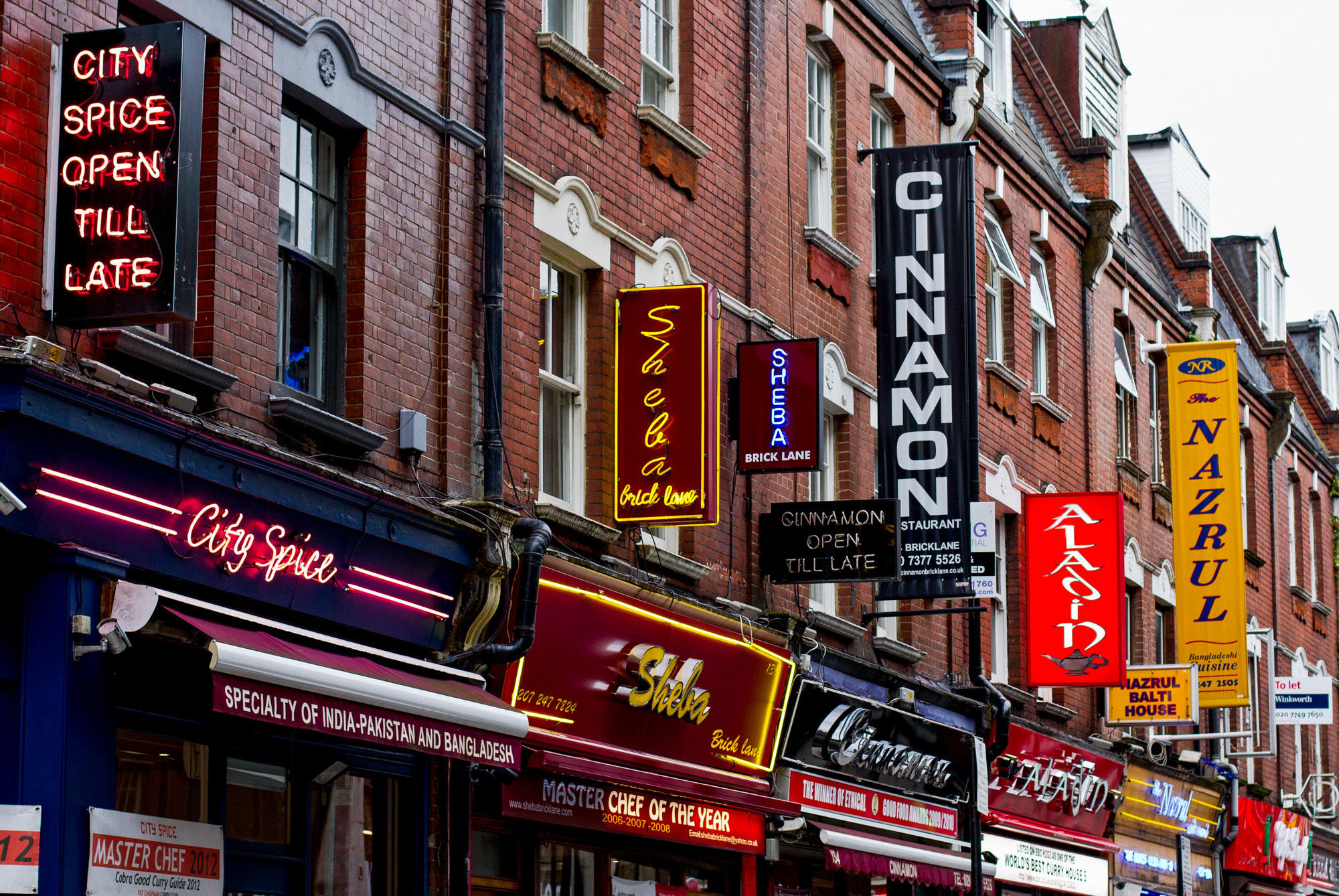 Brick Lane Is A Street In The London Borough Of Tower Hamlets It Famous For Its Many Curry Houses