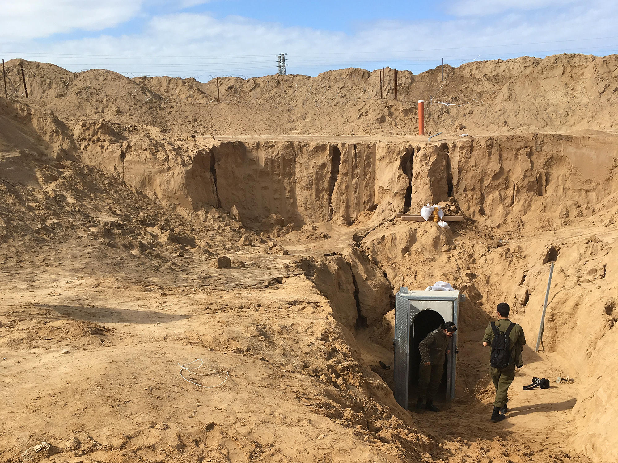 The Israeli military is working on a 40-mile wall that will run the length  of the nation's border with the Gaza Strip to counter tunnels dug by  Palestinian ...