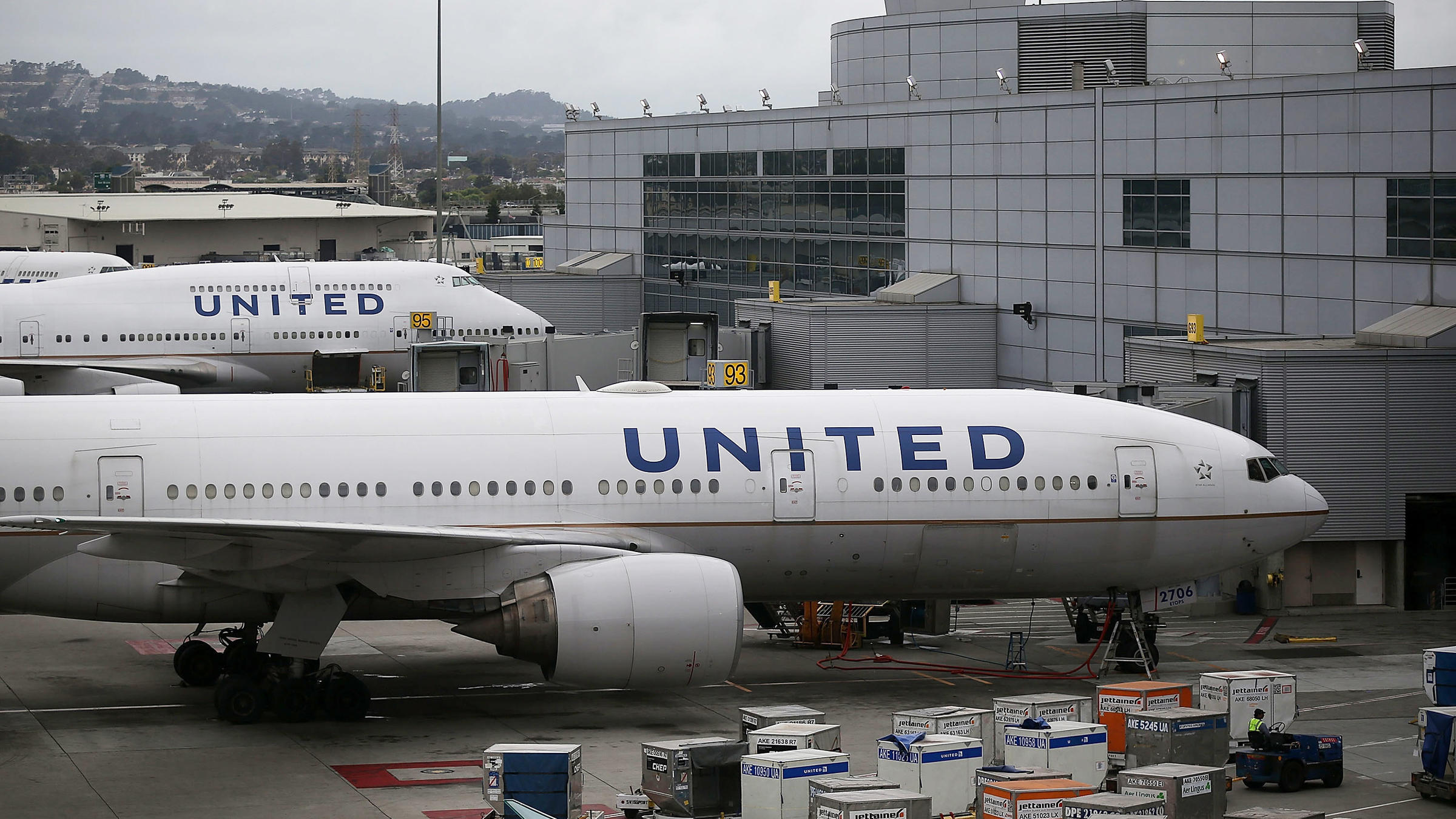 United Airlines Planes Sit On The Tarmac In San Francisco In 2015 The Airline Had Two Incidents Involving Dogs In Two Days