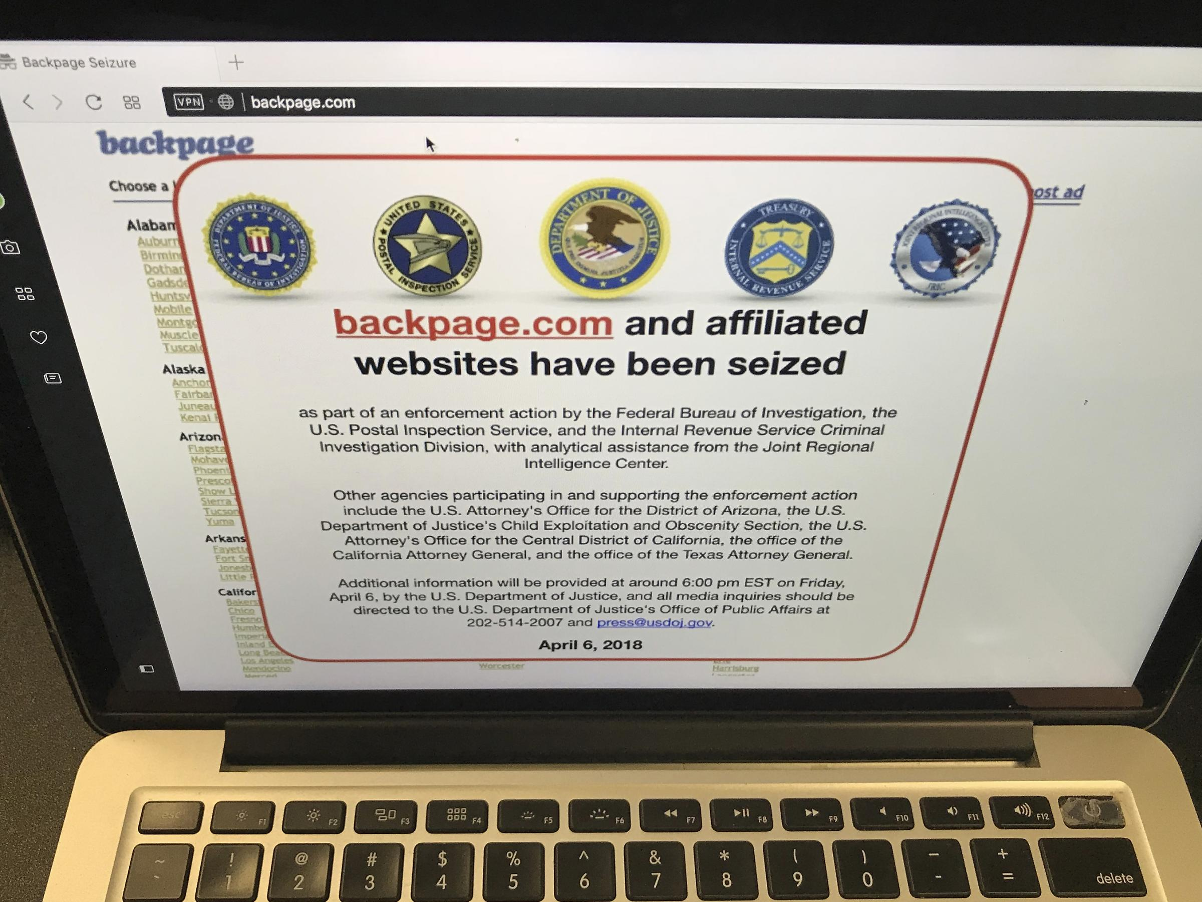 Backpage dating service