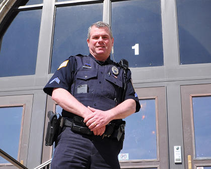 Dixon police officer Mark Dallas who also serves as Dixon High School's school resource officer