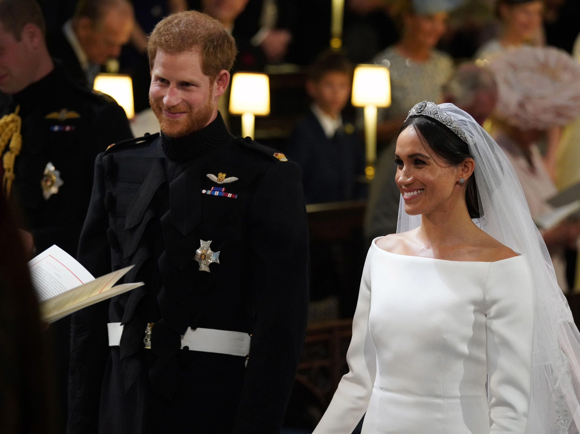 b937a127e78d6 Prince Harry and Meghan Markle became the Duke and Duchess of Sussex upon  their wedding at St. George s Chapel at Windsor Castle on Saturday.