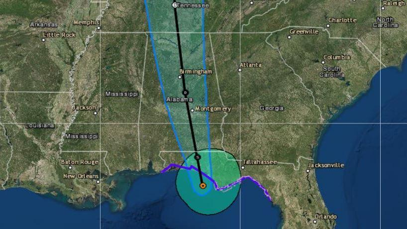 Alberto is predicted to move northward at a faster rate after making landfall in the western Florida Panhandle on Monday