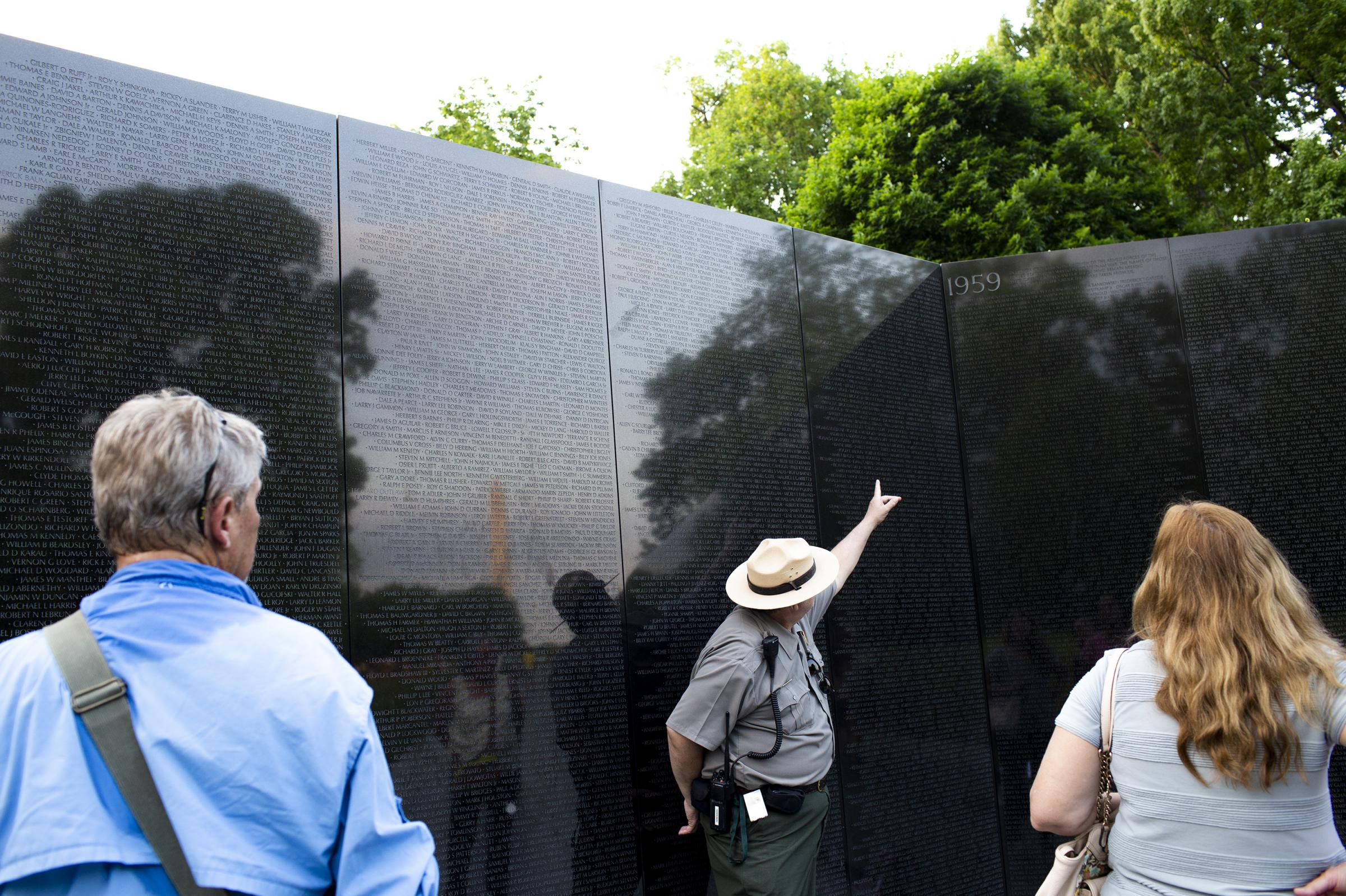 human ashes left at the vietnam memorial find a not final resting