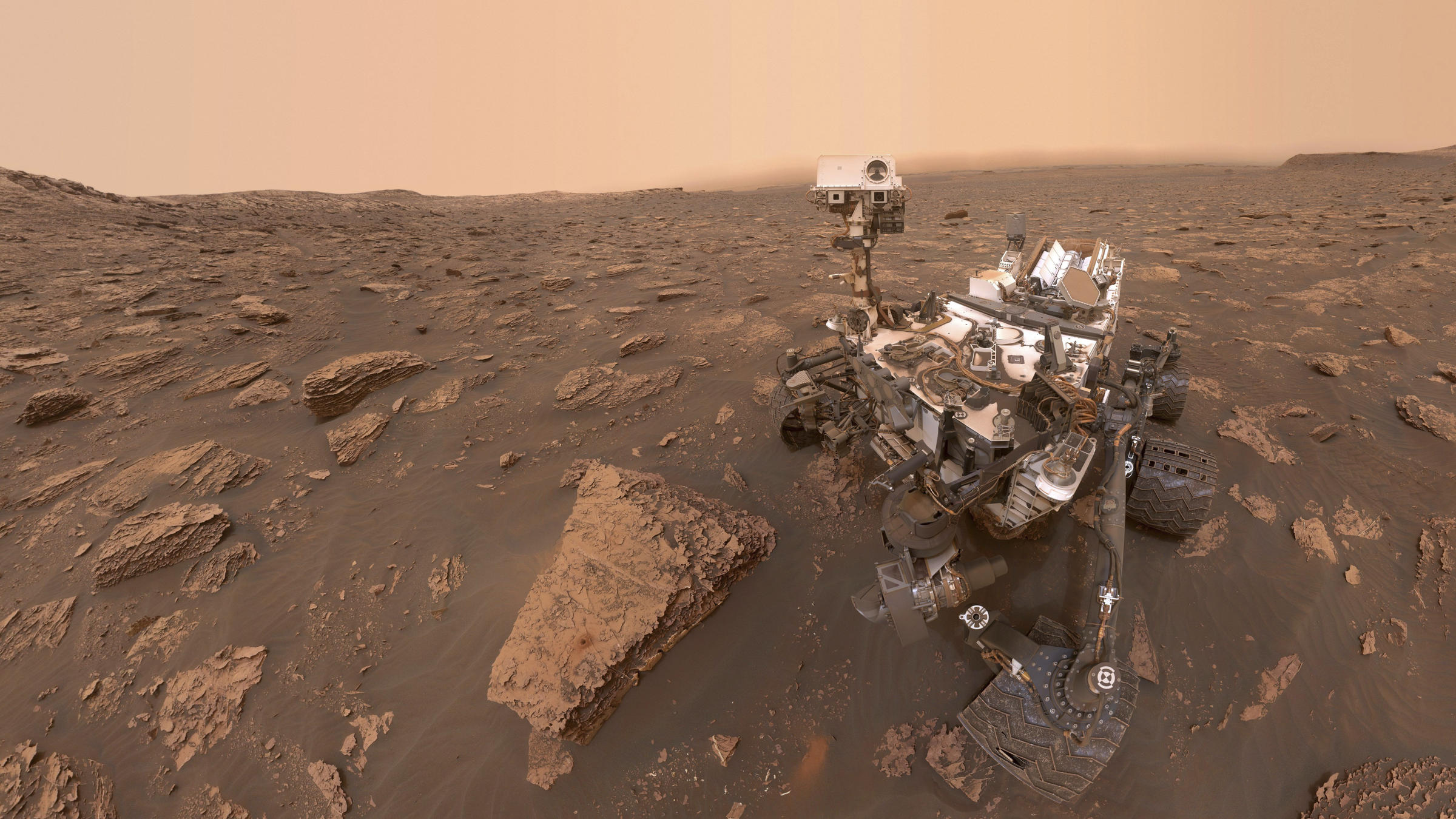 NASA's Mars Rover Is Now Facing A 'Planet-Encircling' Dust Storm