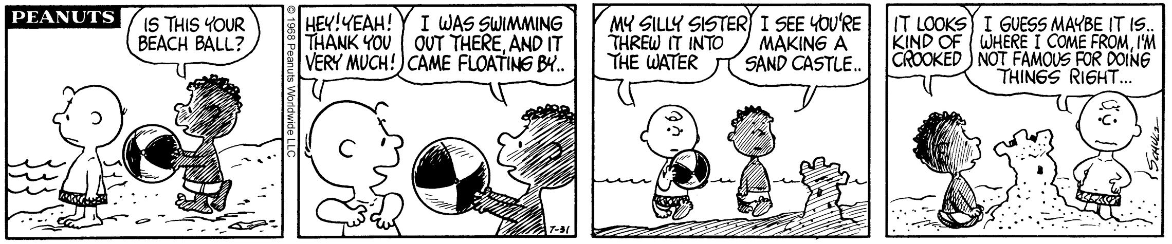 Comic strip of peanuts
