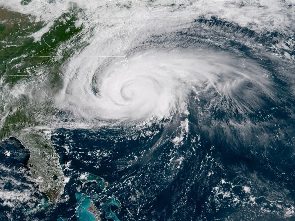 NASA video shows Hurricane Florence from space as it makes landfall