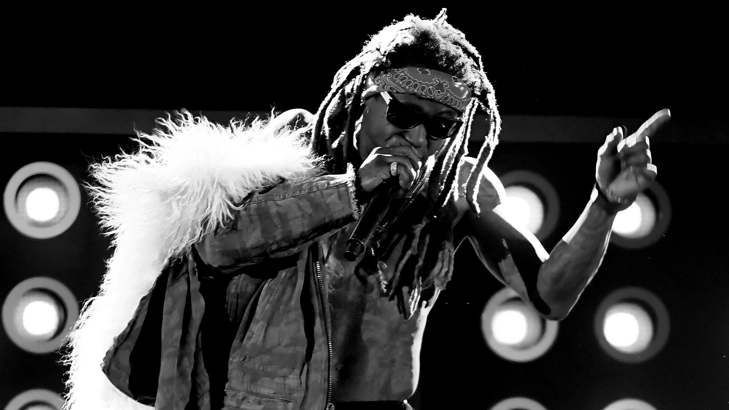 Lil Wayne onstage during the 2017 Billboard Music Awards