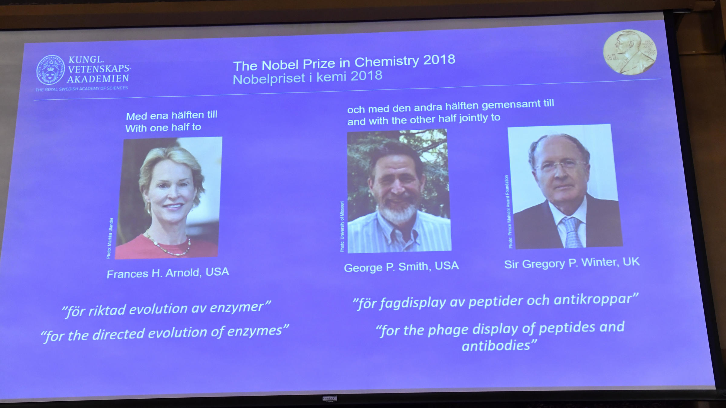 Nobel Prize In Chemistry Honors Work That Demonstrates ...