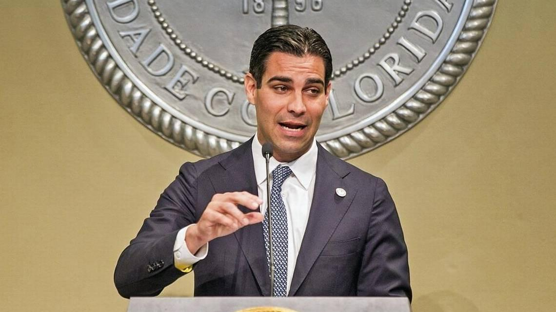 City of Miami Mayor Francis Suarez at his first State of the City address at City Hall in 2018