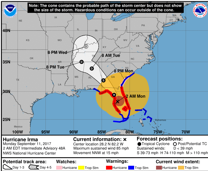 Florida To Maine Map.Irma Weakens But Continues To Batter Florida Maine Public