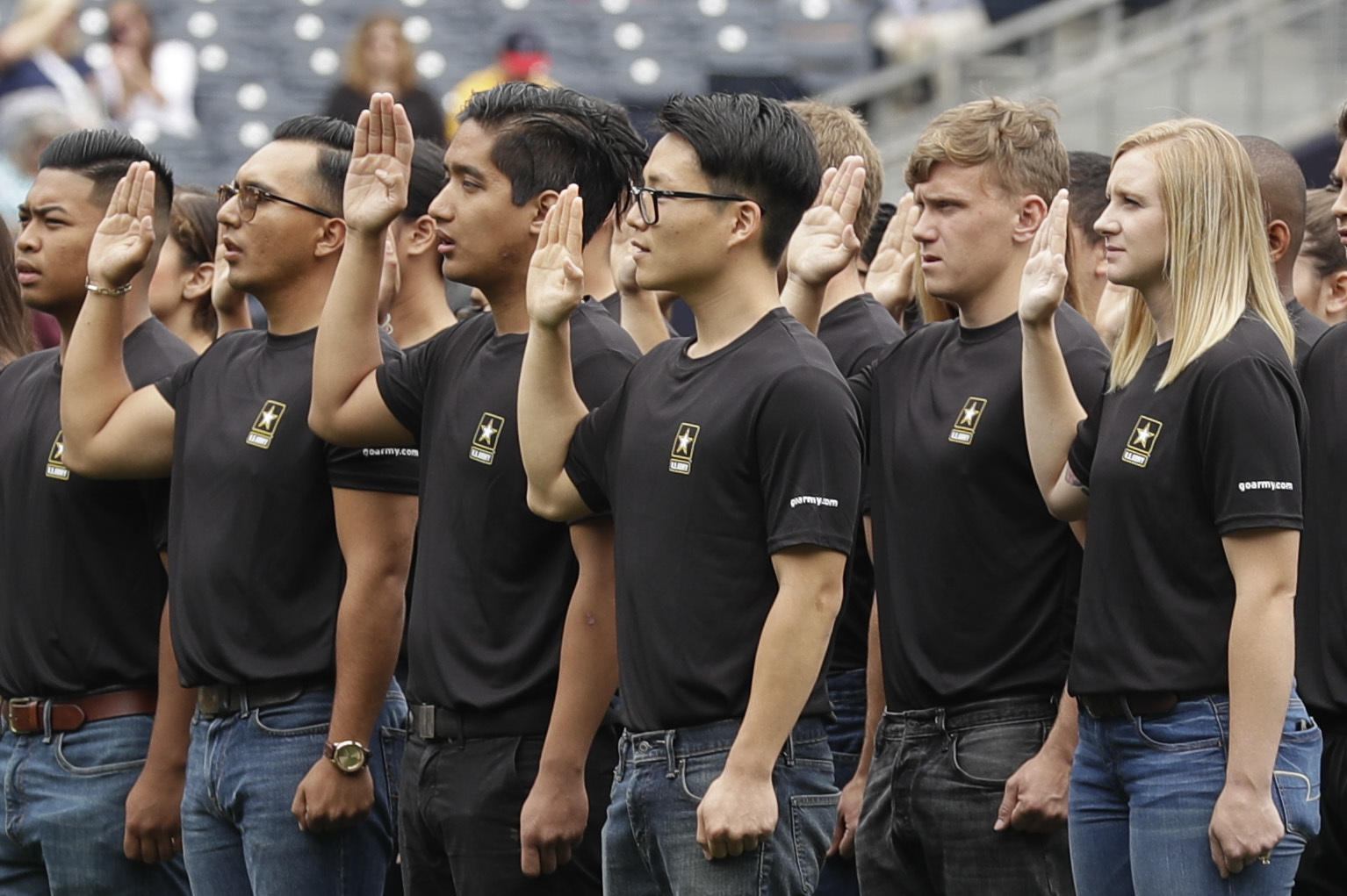 Does what swearing into the military mean best photo