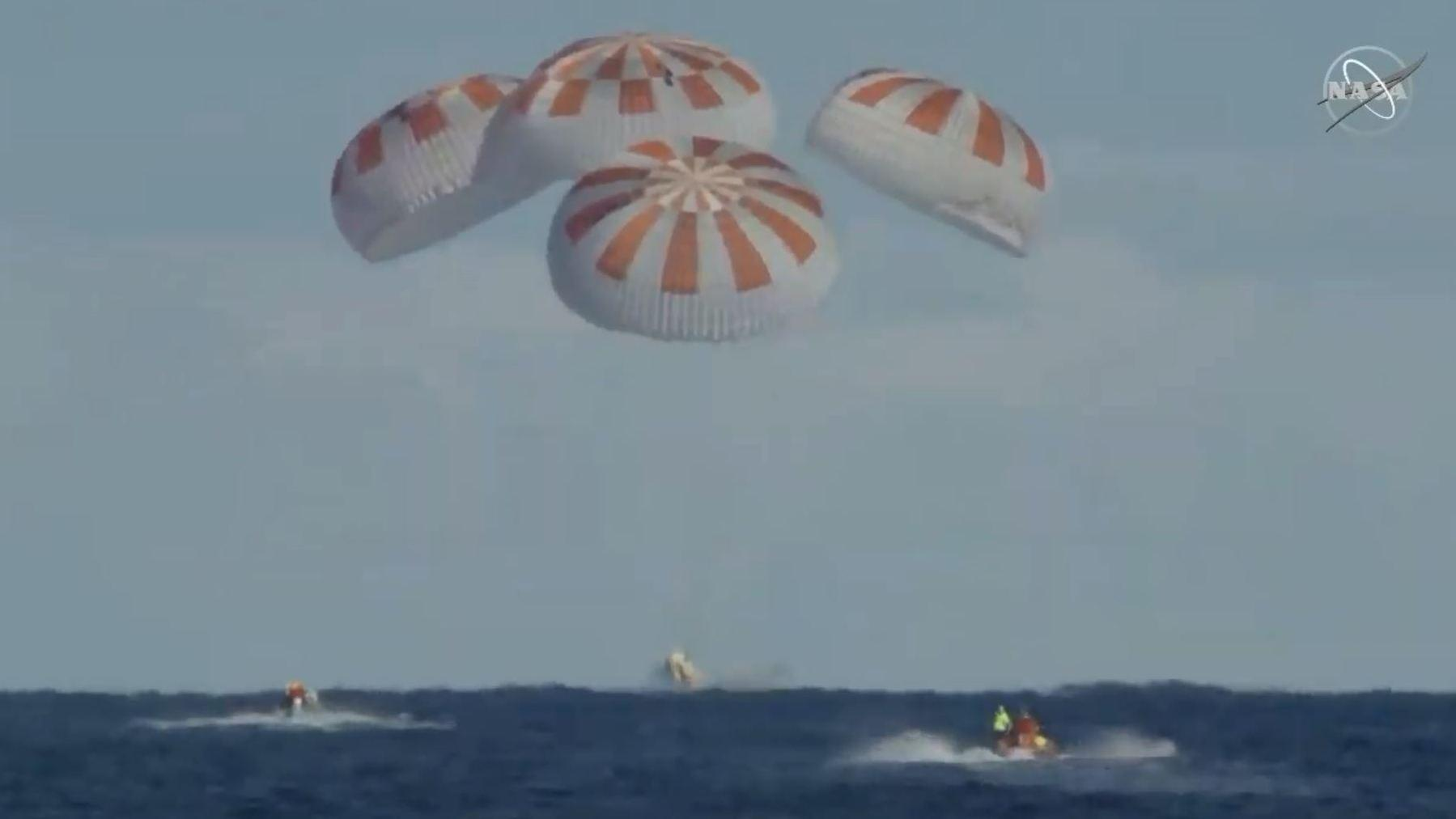 Video of SpaceX's Crew Dragon capsule returning to Earth is pretty stunning