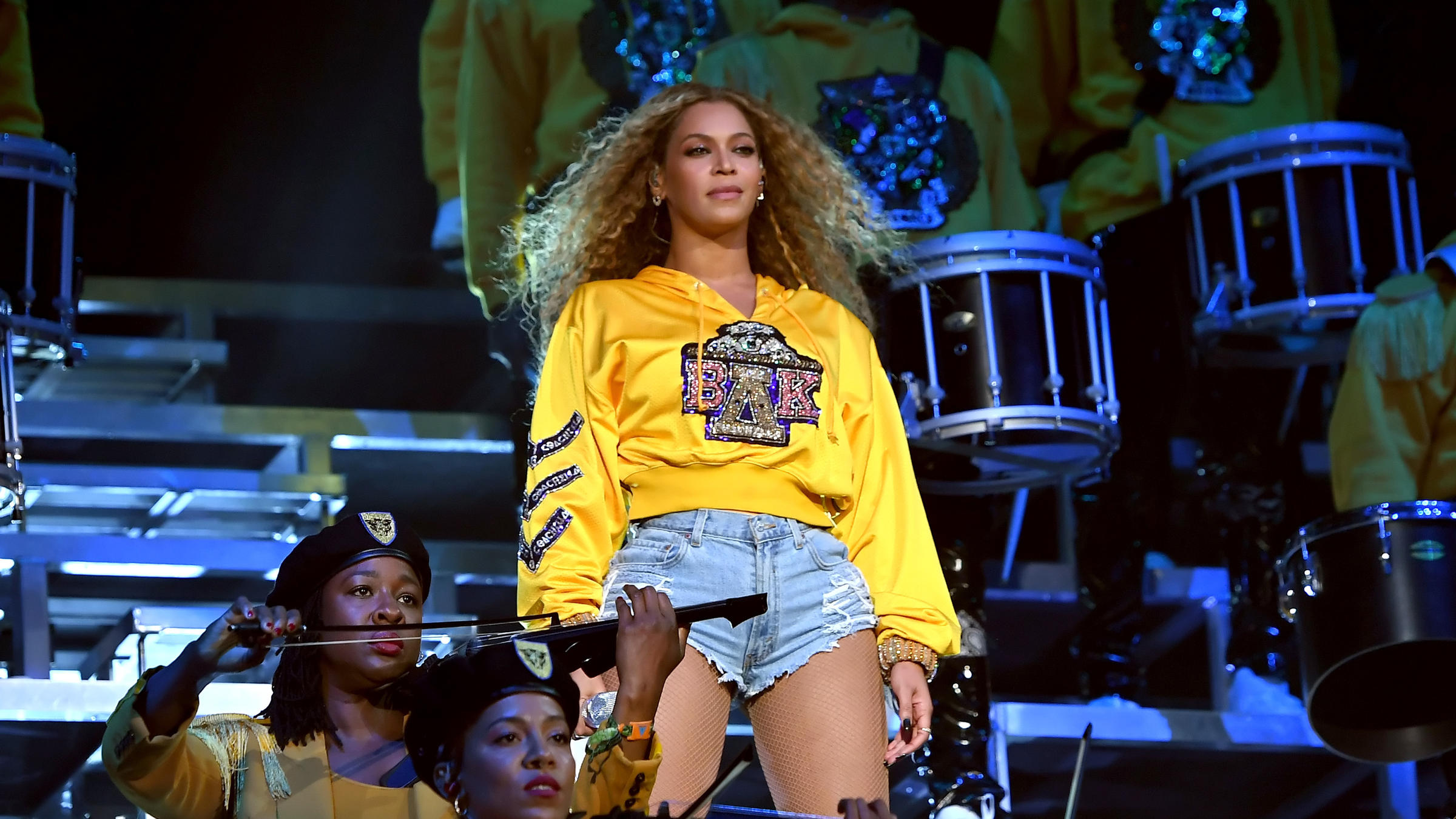 9705177ad252 Beyoncé Knowles performs onstage during 2018 Coachella Valley Music And Arts  Festival Weekend 1 at the Empire Polo Field on April 14