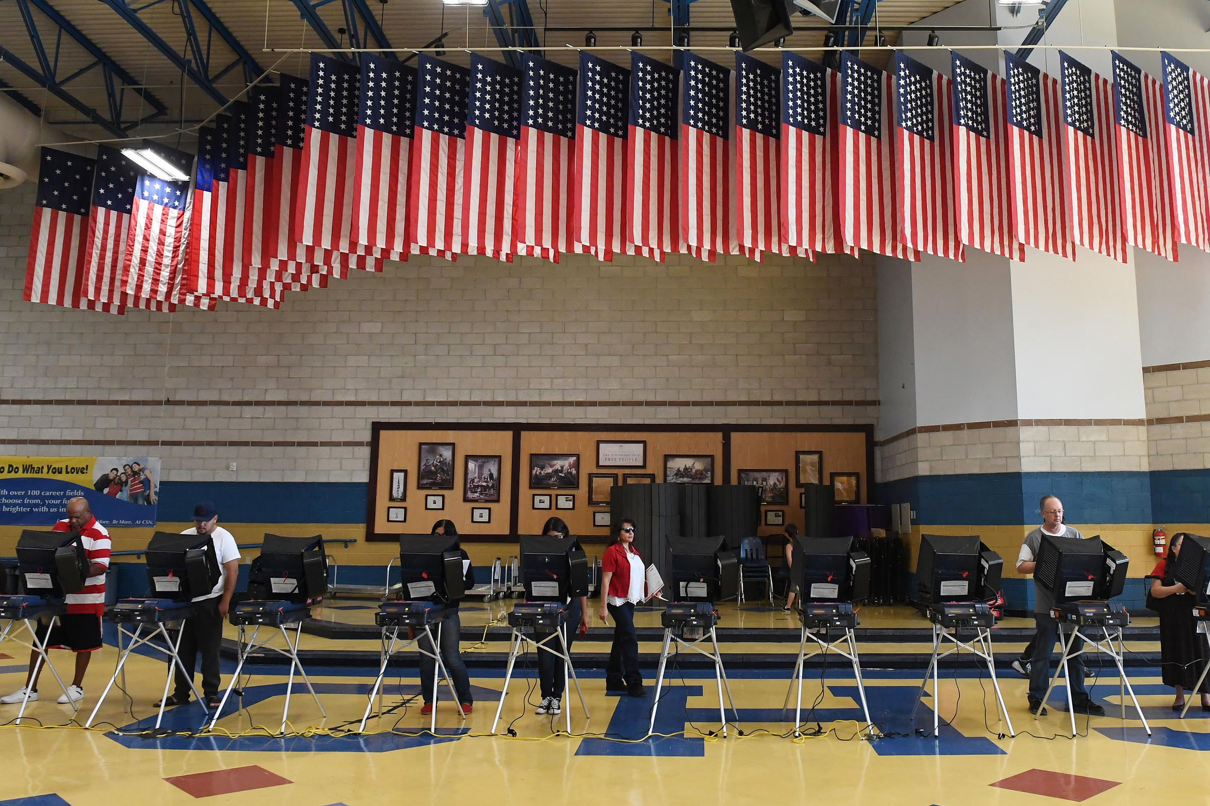 Voters Cast Ballots At Voting Machines In North Las Vegas On Election Day 2016 The Newly Released Mueller Report Detailed More About Russia S Efforts To