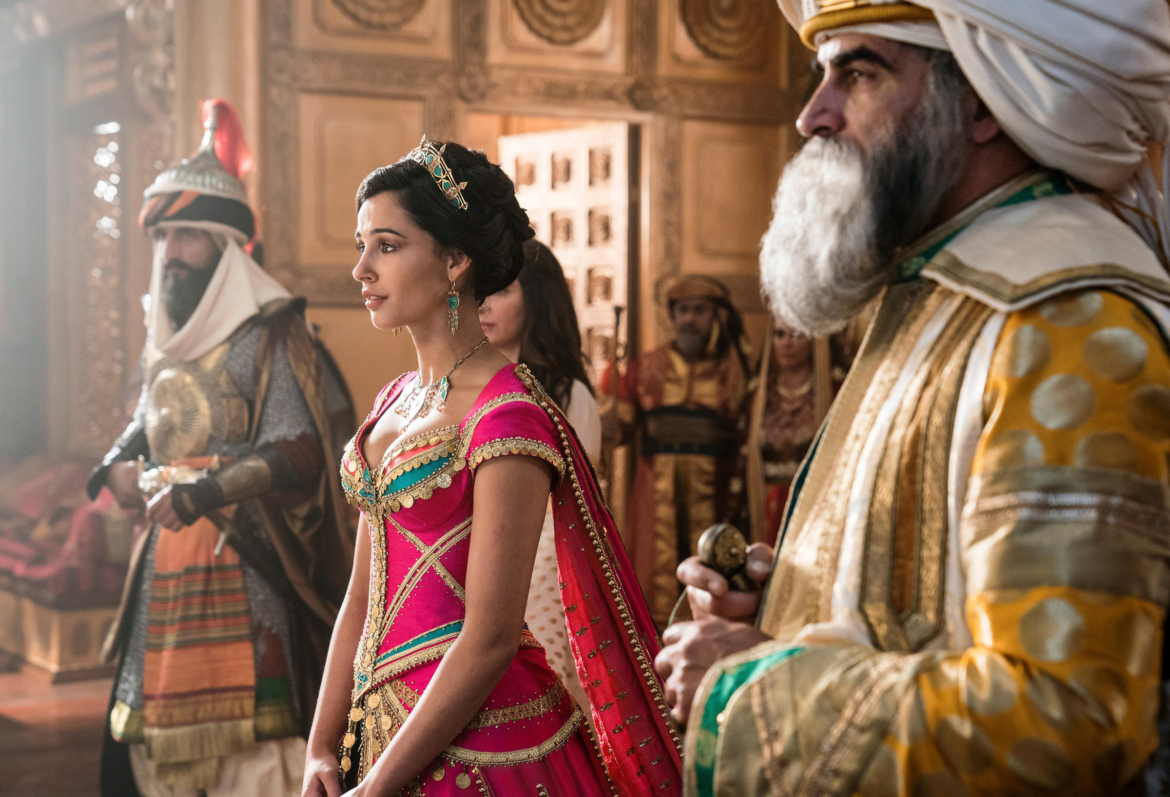 Jasmine naomi scott from the new live action aladdin the character was the first official disney princess of color in the 1992 animated version of the