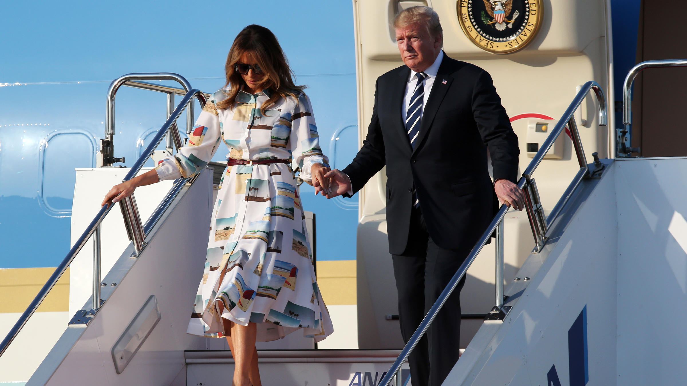 President Trump Arrives In Japan For Inaugural State Visit