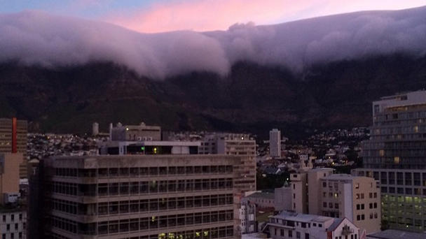 <p>Cape Town, South Africa at dusk.</p>