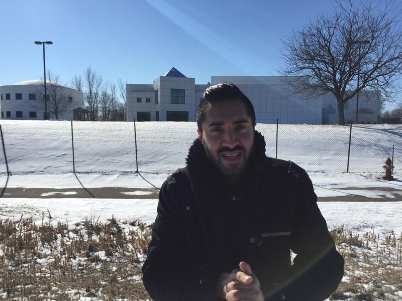 <p>Mobeen Azhar on a pilgramage to Prince's Paisley Park studios in Minneapolis</p>