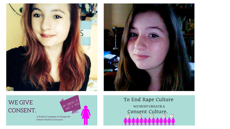 <p>Tessa Hill and Lia Valente helpedgetthe issue of consent into Ontario'snew sex-ed curriculum.</p>