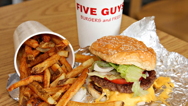 <p>The appeal of Five Guys: big juicy burgers and tasty fries.</p>
