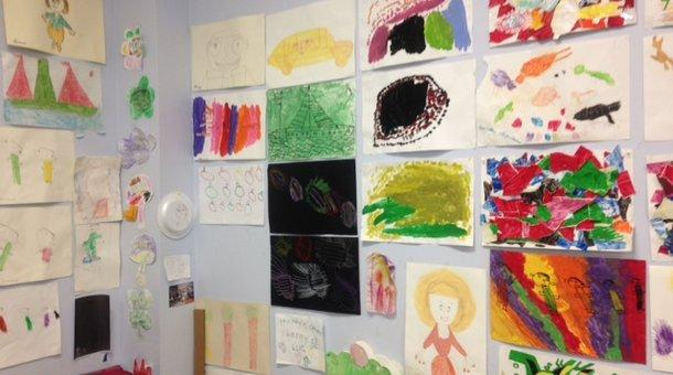 Artwork by clients of the Arc of Philadelphia, an organization that supports individuals with developmental disabilities.