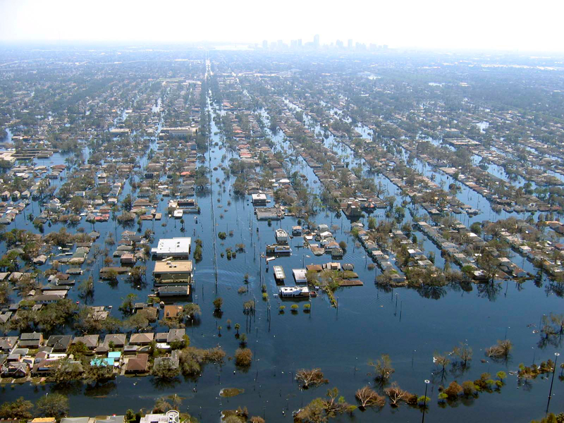 <p>Hurricane Katrina flooding in New Orleans</p>