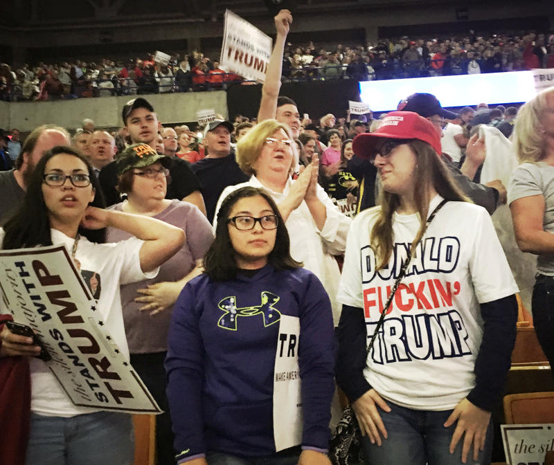 A Trump rally in Charleston, W.V. in May 2016.
