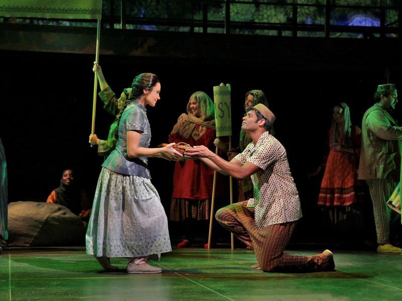 Soprano Andriana Chuchman and tenor Sean Panikkar in a scene from Shalimar the Clown.