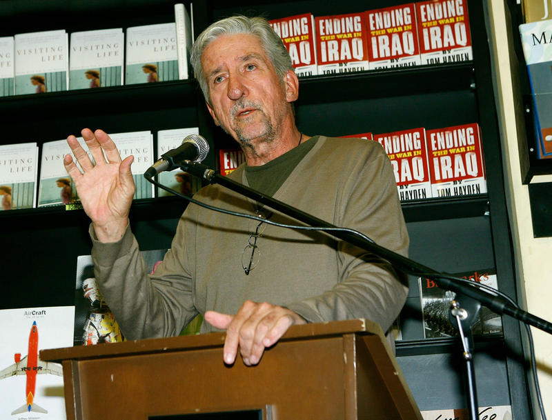 Tom Hayden, At 76, Still An Activist And Lifelong Agitator