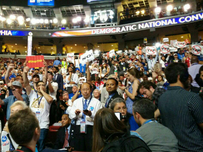 California delegates expressed their dissatisfaction with the party's nomination process Monday night by booing loudly on the convention floor throughout Monday night's speeches.