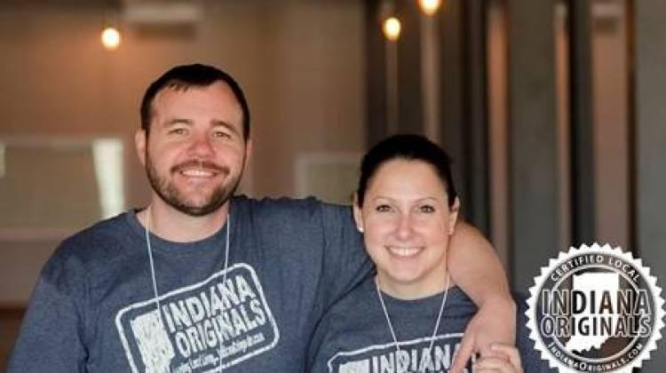 Founder Of Indiana Originals Mel McMahon Stone and her husband Lance