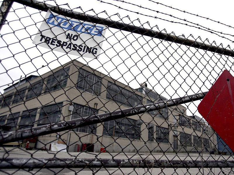 Factories have been closing in southwest Ohio for years. This Delphi factory in Dayton shut down in 2006. Economists say that to a large degree, the decline in middle incomes reflects the loss of factory jobs.