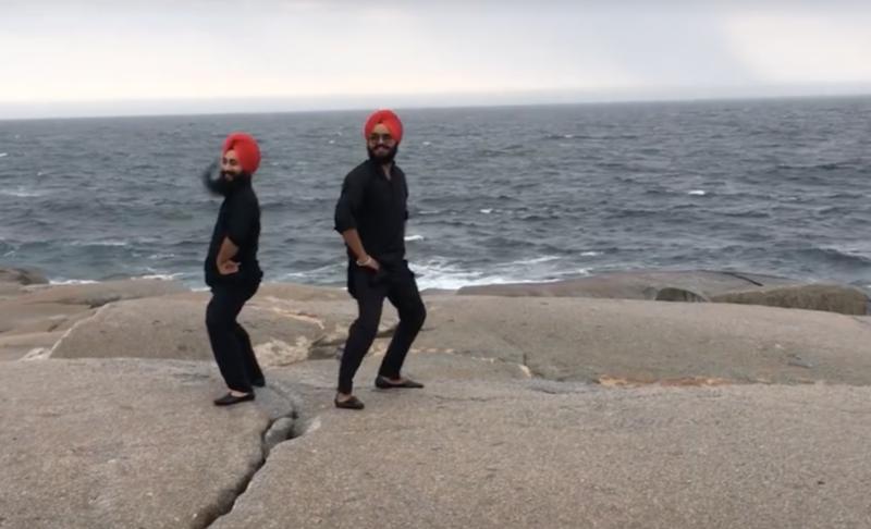 <p>Maritime Bhangra dance in Peggy's Cove, Nova Scotia.</p>