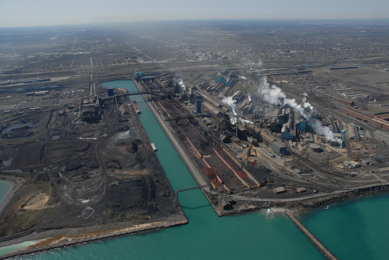 U.S. Steel's Gary Works, on the Lake Michigan shore in Lake County, is the largest steel mill in North America.