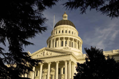 SACRAMENTO, CA - JANUARY 5: An exterior of the state capitol is shown on January 5, 2006 in Sacramento, California.