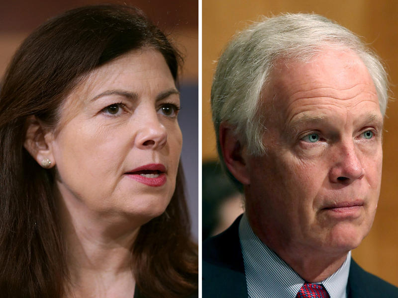 (Left to right) Sen. Kelly Ayotte of New Hampshire, Chairman Ron Johnson of Wisconsin, and Sen. Roy Blunt of Missouri.