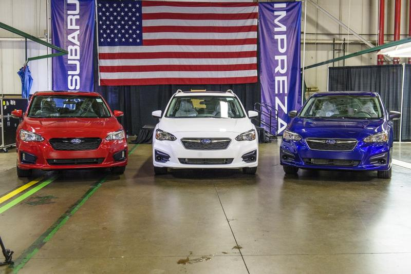 New Imprezas are on display at Subaru of Indiana Automotive in Lafayette. (Courtesy: Subaru of Indiana Automotive)