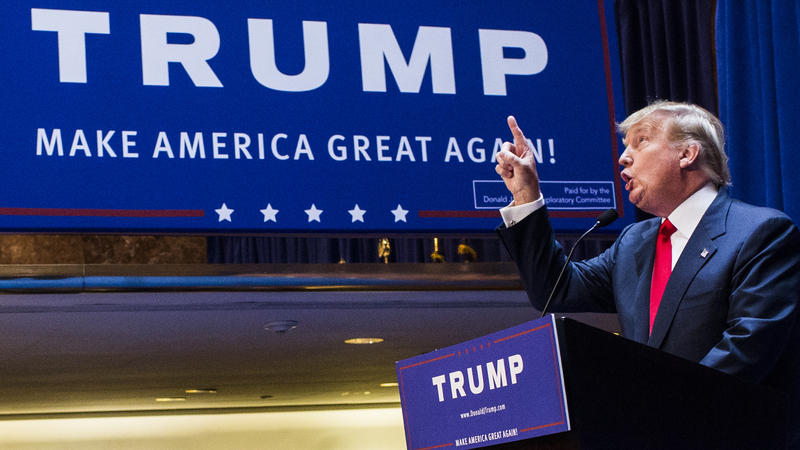 Donald Trump announces his candidacy for president at Trump Tower on June 16, 2015 in New York City.